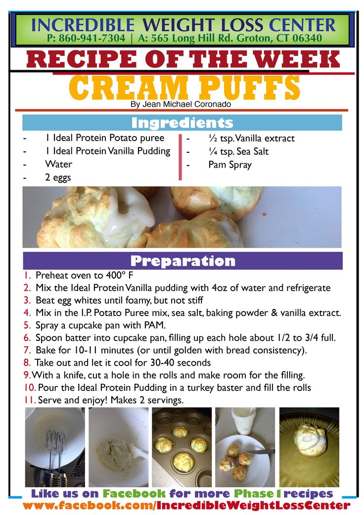 The Ideal Wardrobe: Ideal Protein Cream Puffs! Phase 1 Approved