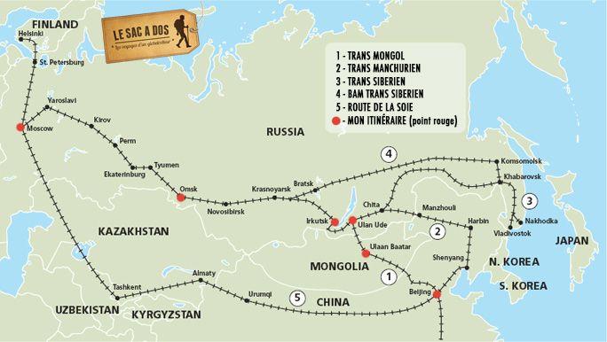 Préparer Voyage en train #Transsibérien