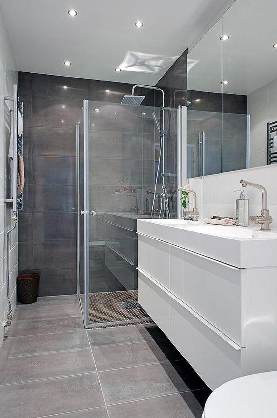 Cortinas de cristal para el baño | Ideas para los baños | Cuarto de ...