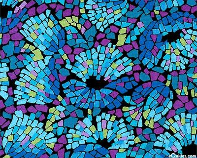 Gallery Basics 2 - Flower Mosaic - Sky Blue
