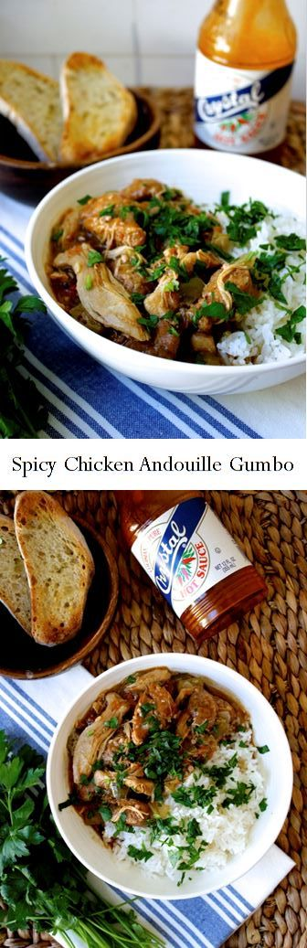 Spicy Chicken Andouille Gumbo Recipe by The Woks of Life
