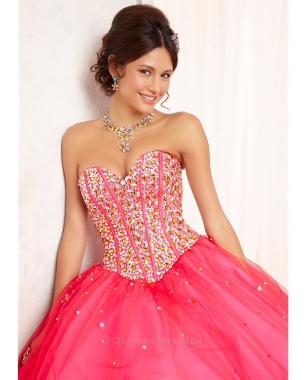 2015 New Lace Up Strapless Heart Shaped Diamond Full Long: 1000+ Images About Red Quinceanera Dresses On Pinterest