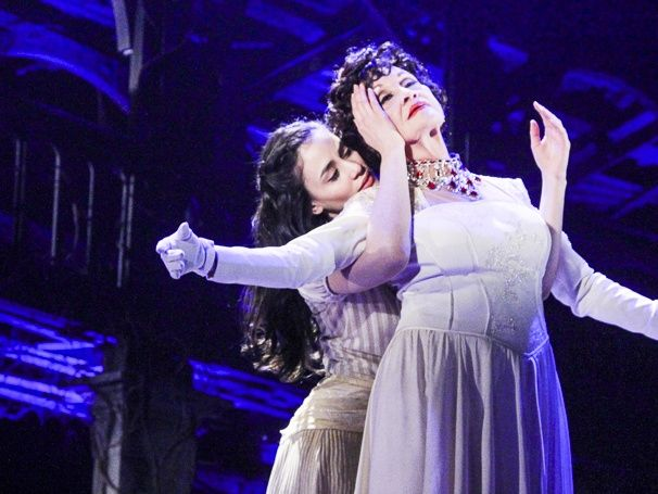 THE VISIT's Michelle Veintimilla and Chita Rivera in rehearsal