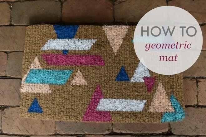 How to create a geometric welcome mat l Welcome mat DIY l Colouful DIY l Paint DIY l Paint project #stylecuratorau