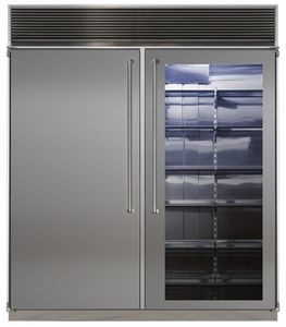 "MPRO72CSS-SGX Marvel Professional 72"" Built-in Side-by-Side Refrigerator/Freezer with Stainless Interior - Stainless Steel"