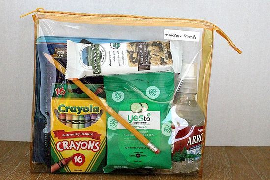 Emergency Comfort Kit ....the author of the blog also suggested a use might be to grab as you are heading out the door to the ER...great idea!