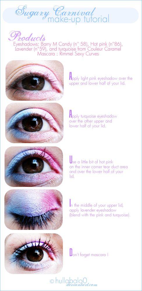 Sugary Make-up tutorial by ~hullabalo0