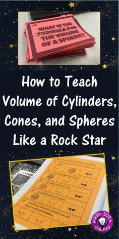Do your students have a hard time remembering the formulas for the volume of cylinders, cones, and spheres? Well, if that describes you, then you have come to the right place my friend. I'm going to share a sequence of learning that has helped my students memorize these formulas. Every year when I teach this … Continue reading How to Teach Volume of Cylinders, Cones, and Spheres Like a RockStar →