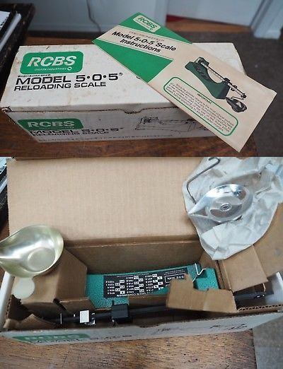 Powder Measures Scales 71119: Rcbs Reloading Scale Model 505 - New Nib -> BUY IT NOW ONLY: $50 on eBay!