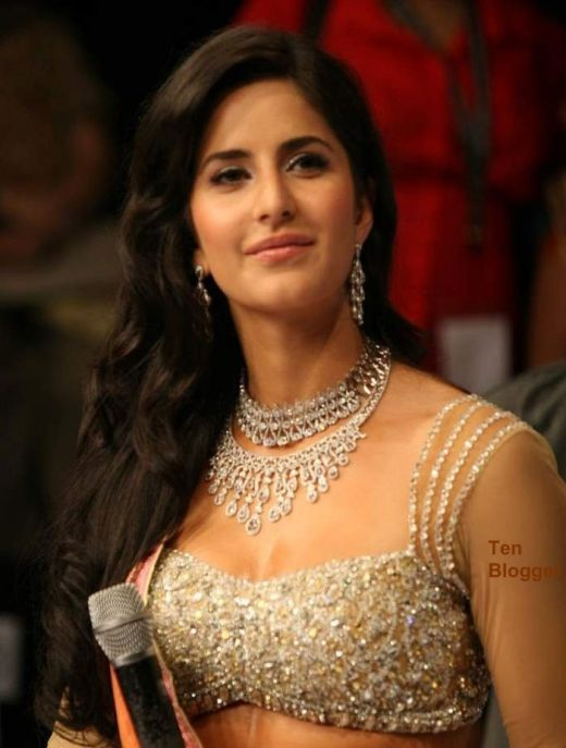 Katrina Kaif - showing off new trendy Necklaces