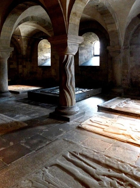 In The Crypt, The Crypt under Lund Cathedral, untouched since its consecration in 1123 Copyright: Michael Dolby