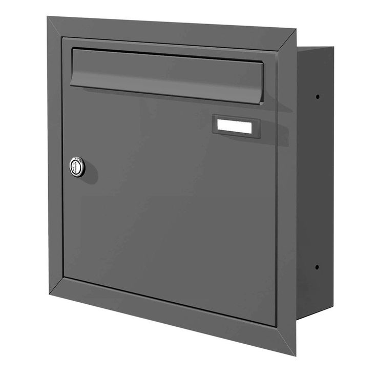 Max Knobloch Unterputz-Briefkasten anthrazit (RAL 7016) 12 Liter - Einbaubriefkasten anthrazitgrau