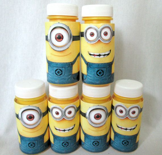 Minions Favors Minion Party Favors Bubble Favors by PartyFetti
