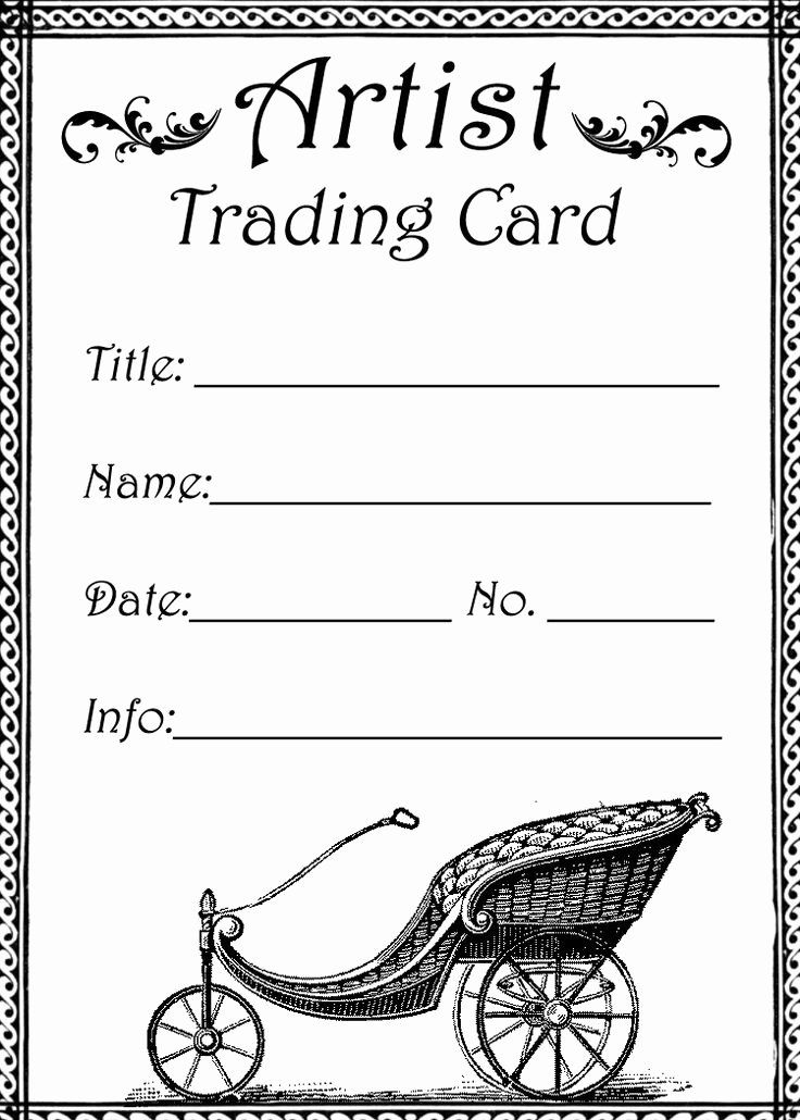 Printable Trading Card Template Luxury atc Trading Card