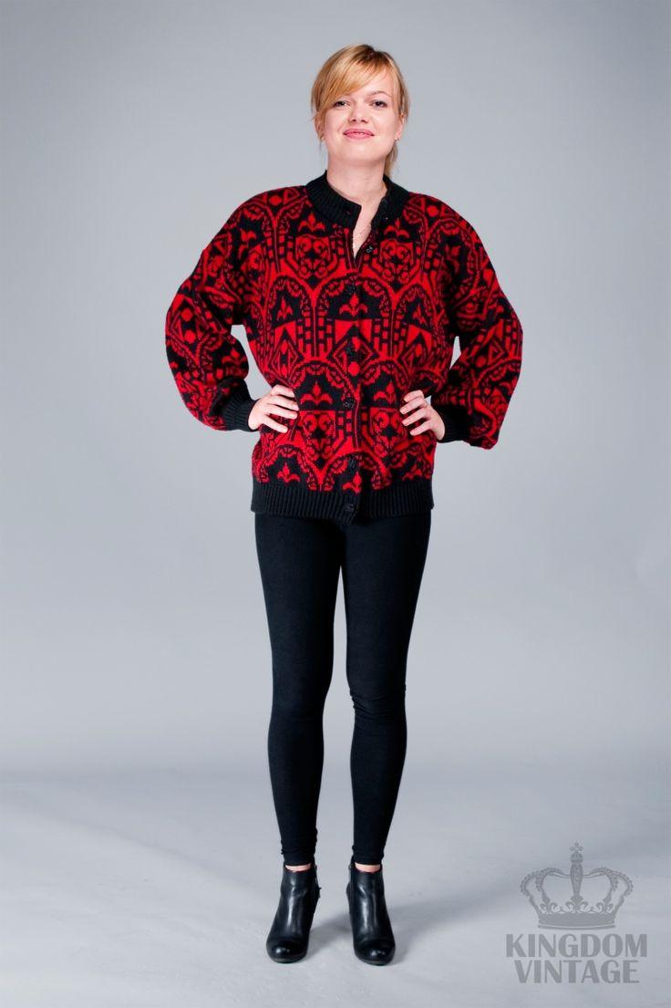 ciepły vintage sweter z lat 80's od Kingdom of Vintage