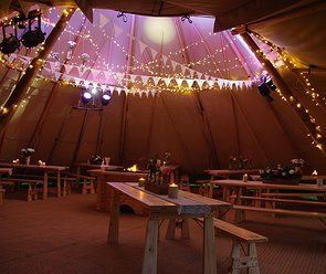 Decorated tipi perfect to celebrate in for a wedding weekend