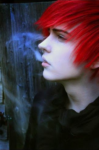 boy with dyed red hair - photo #6