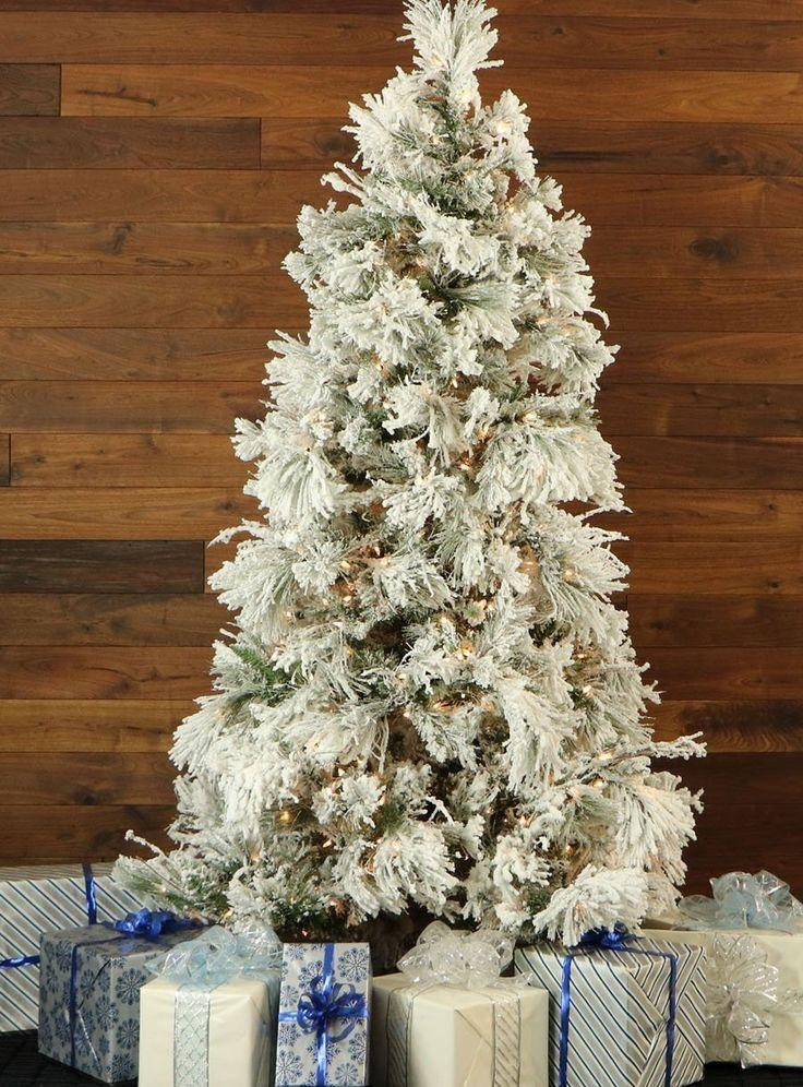 Snowy Pine Christmas Tree with Smart String Lighting