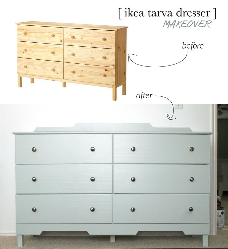 IKEA makeover using Benjamin Moore's (Aura line in satin) Sage Tint–the prettiest neutral mint