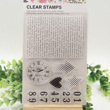 1 sheet DIY Number sign background Design Transparent Clear Rubber Stamp Seal…