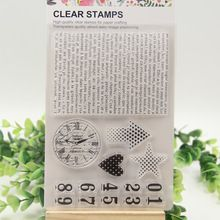 1 sheet DIY Number sign background Design Transparent Clear Rubber Stamp Seal…