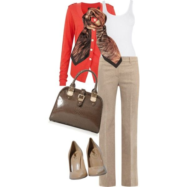 A fashion look from December 2012 featuring Ted Baker cardigans, MaxMara pants and Yves Saint Laurent pumps. Browse and shop related looks.