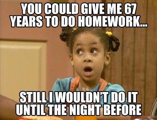 I want to do my homework