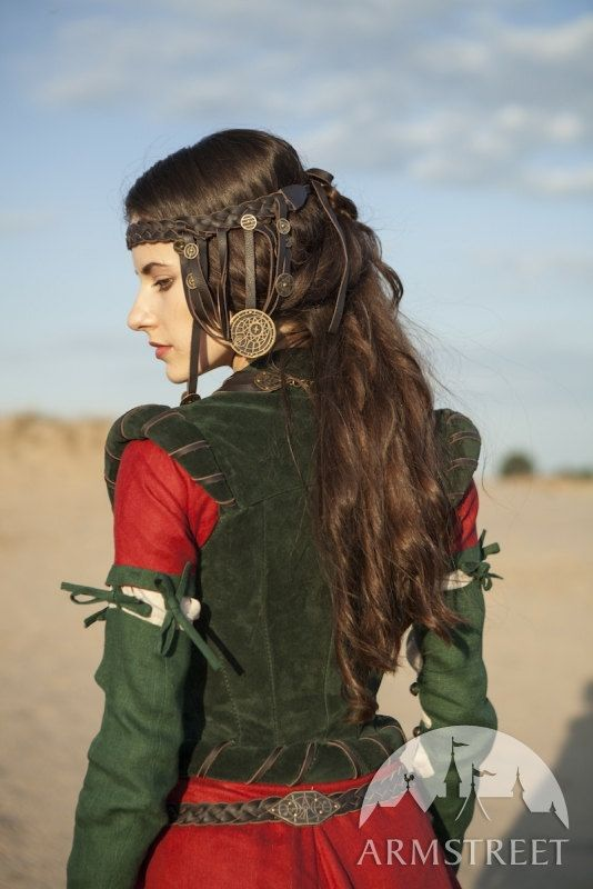 Braided Leather Headband The Alchemists daughter real by armstreet