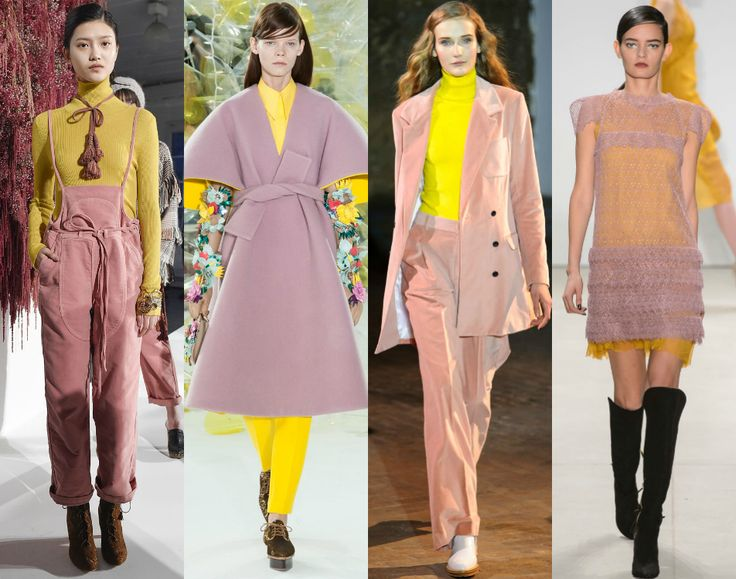 Image result for new york fashion week 2016 dusty pink yellow