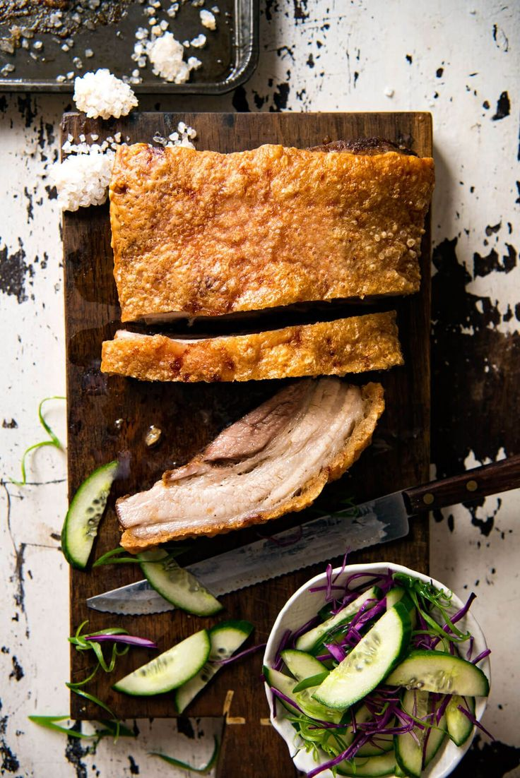 Nobody does crispy pork belly like the Chinese! The secret to the perfect, shatteringly crisp, perfectly seasoned crackling is to bake with a salt crust.