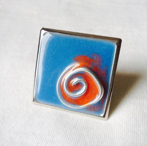 "Handmade statement resin ring "" Summer in my hands"""