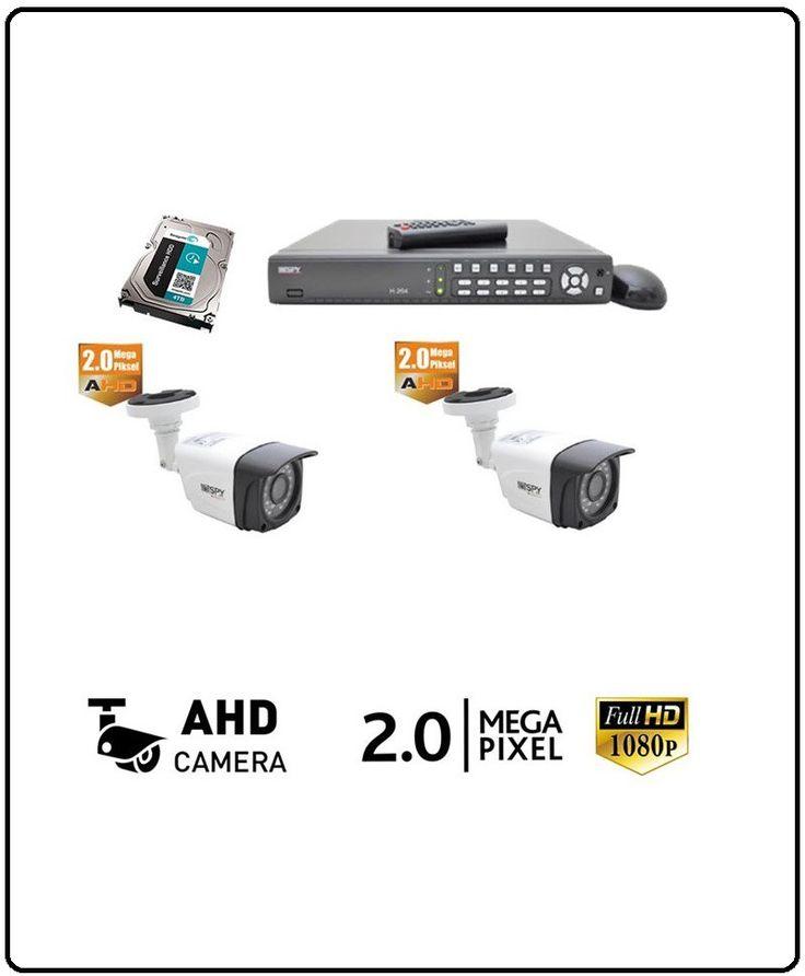 2 Kameralı Pro Güvenlik Seti