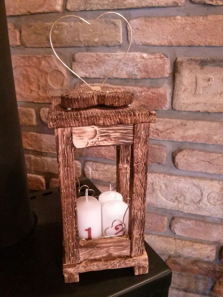 My Love made for me a beautiful, lovely wood lantern! I love it!