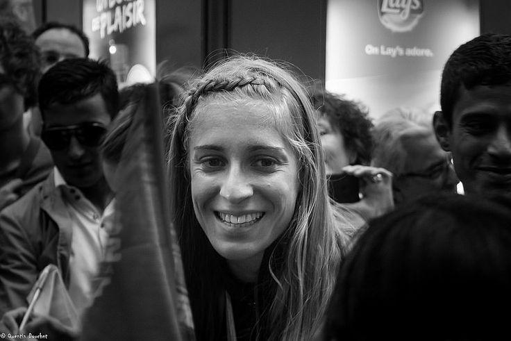 Marie Gayot, championne d'Europe du 4x400m. #FFA #athlétisme #girl #woman #femme #noiretblanc #blackandwhite #athletics #athlete #France #personne #person #sportswoman #sportsperson