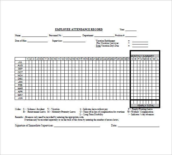 10 Attendance List Templates Word Excel Pdf Templates List Template Attendance List Templates