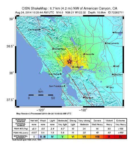 Nordkalifornien: Das ganz große Beben blieb zum Glück wieder aus