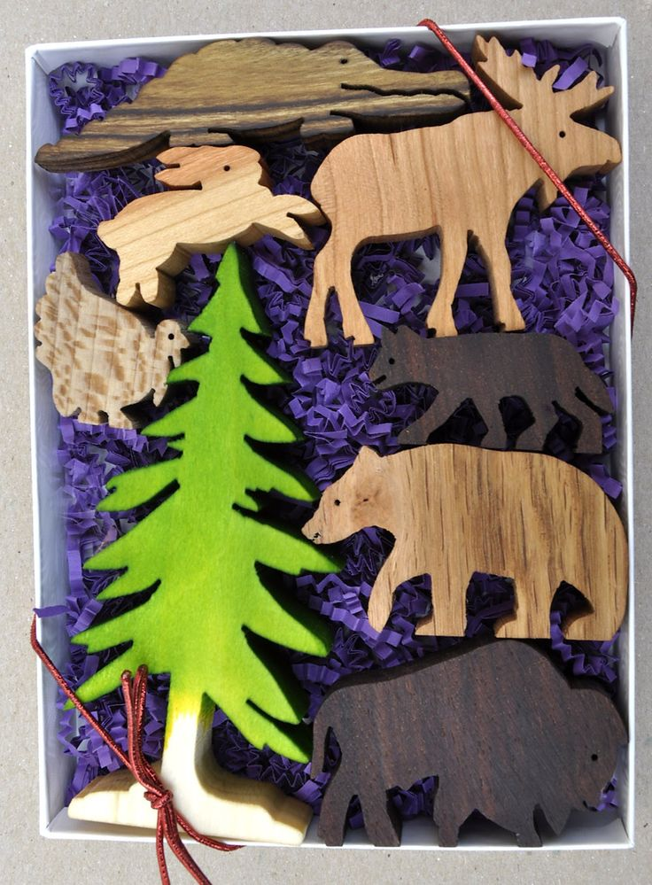 Wilderness Animal Set Wooden Toy Blocks -love it.... But what's with the alligator! One of these things is not like the others!