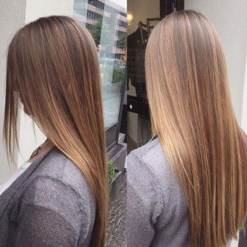 Braune Haare Mit Strähnen