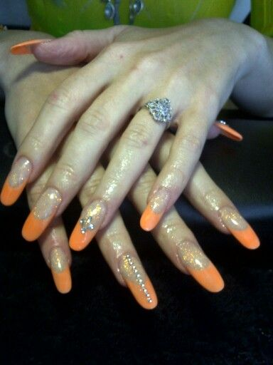 Neon orange ovals