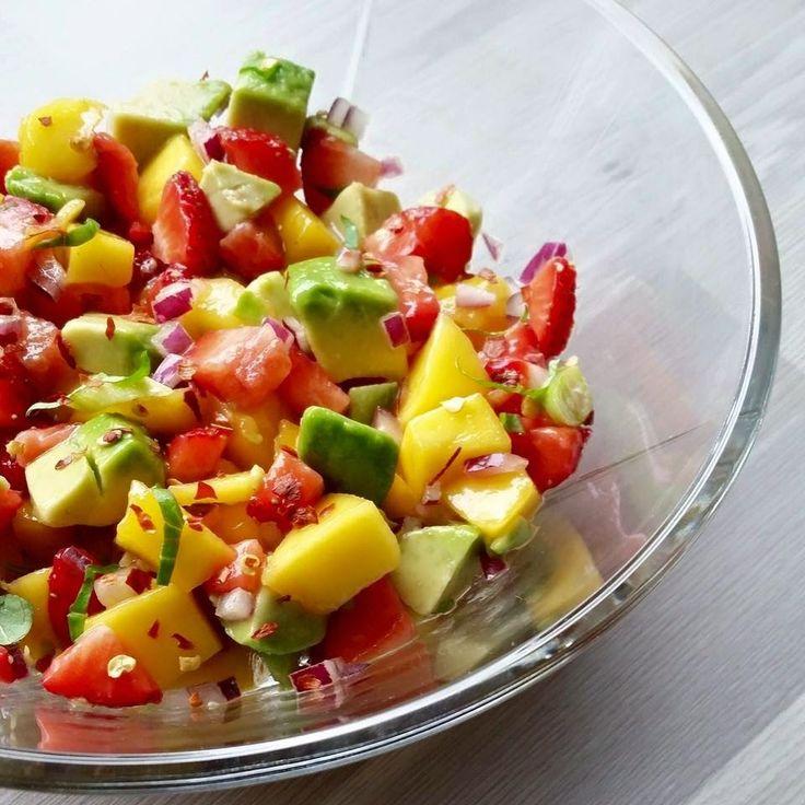 Hver gang vi spiser: Mango- og jordbærsalsa