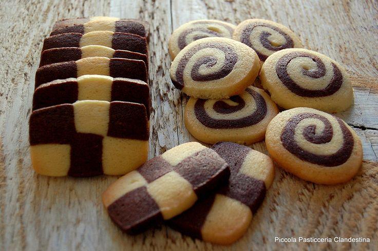 Biscotti di pastafrolla bicolore | Piccola Pasticceria Clandestina