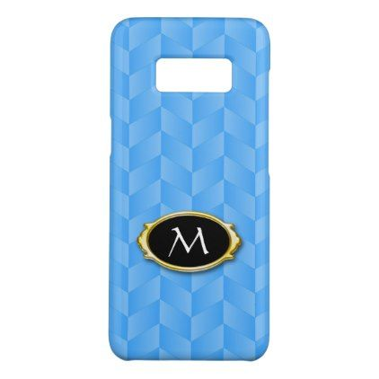 #initial - #Blue Chevron Monogram Case-Mate Samsung Galaxy S8 Case