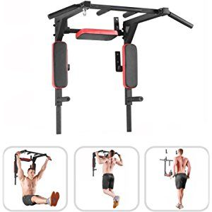 Bar2Fit Pull Up Bar For Home & Gym - Dipping Station - Wall Mounted Chin Up Bar - Portable Pull Up Bar - Easy To Install - Up to 200kg - Perfect For Workout & Crossfit