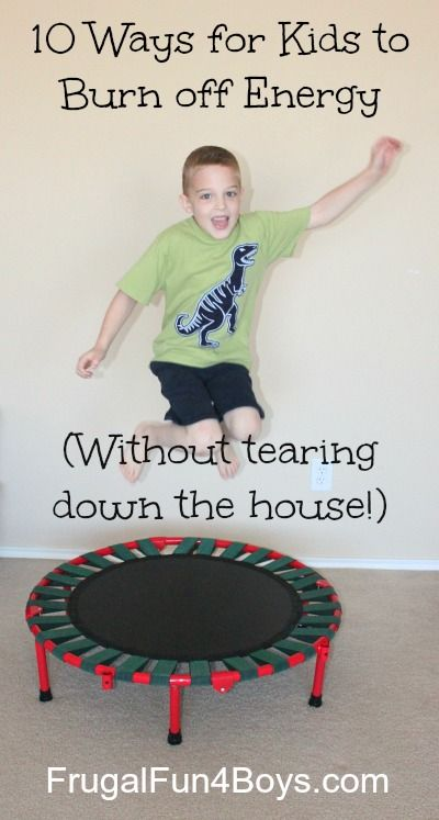 """""""10 Ways for Kids to Burn off Energy (Without tearing down the house!)""""-- I still love throwing rocks in a creek. The kids find it calming. I want to try the ice game this summer. The indoor games are great with rainy days or way-too-hot days."""