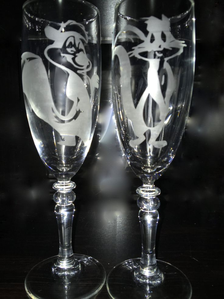 Pepe LePew and Penelope Cat wine glasses by EmbellishedBirthdays on Etsy https://www.etsy.com/listing/265350005/pepe-lepew-and-penelope-cat-wine-glasses