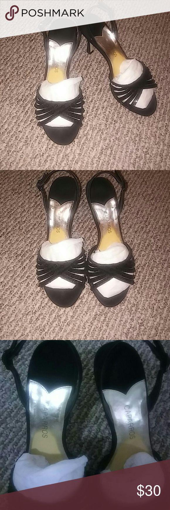 🌼Sexy Black heels by Caparros🌼 Sexy black heels Gently worn like new Caparros Shoes Heels