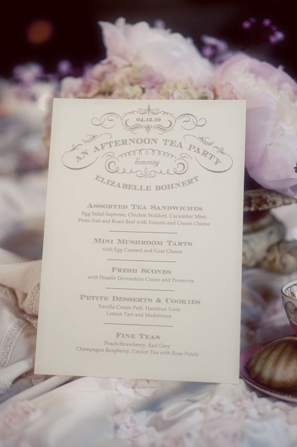 Tea party with beautiful print