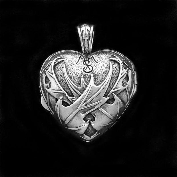 Sterling silver Scotish Thistle Symbol charm vintage # 74