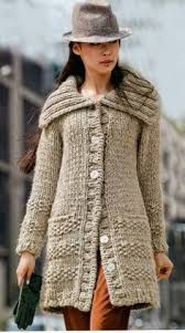 Resultado de imagen para como tejer abrigo con 2 agujas para dama paso a paso