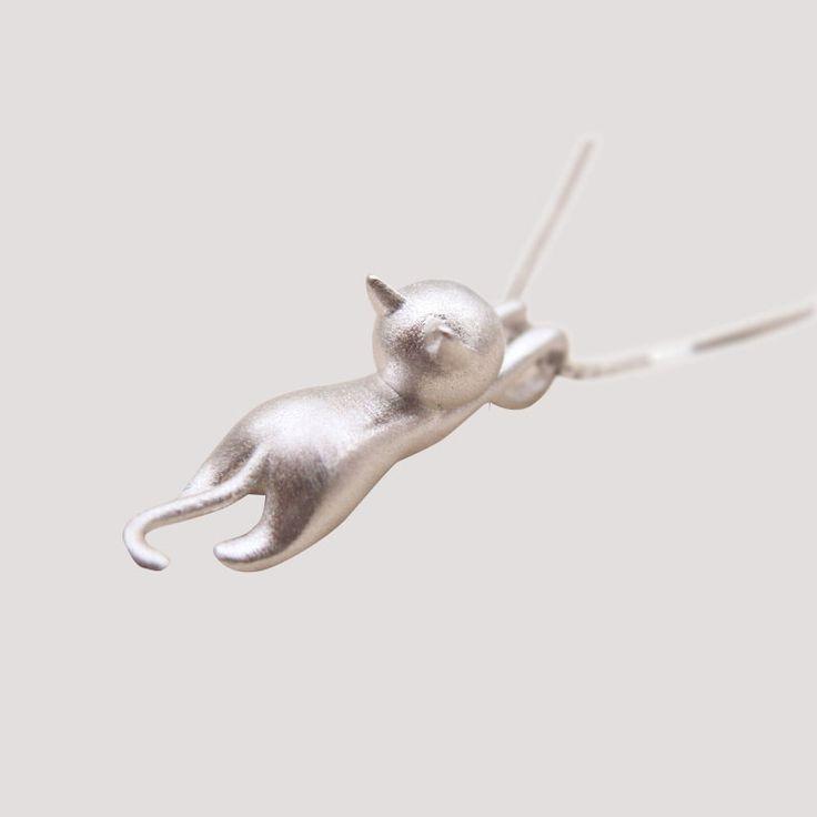 Женщины Роскошные Hello kitty кулон мультфильм симпатичные ювелирные изделия 100% Подлинная Стерлингового Серебра 925 Пробы Дамы Ожерелья ЛУЧШИЕ качества Не Выцветают купить на AliExpress